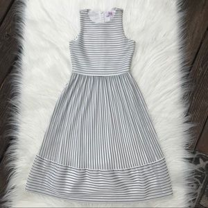 GB Girls white and black Striped Dress Sz 7